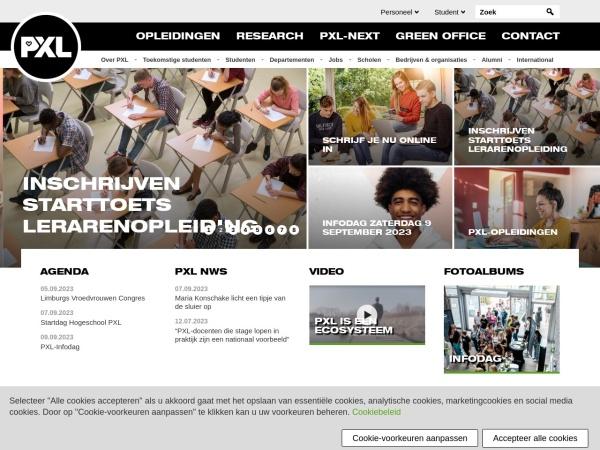 Screenshot of www.pxl.be
