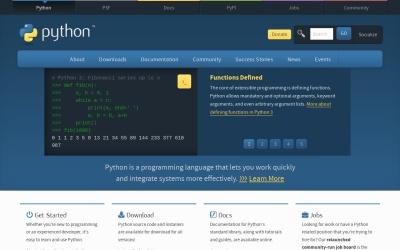 Screenshot of www.python.org