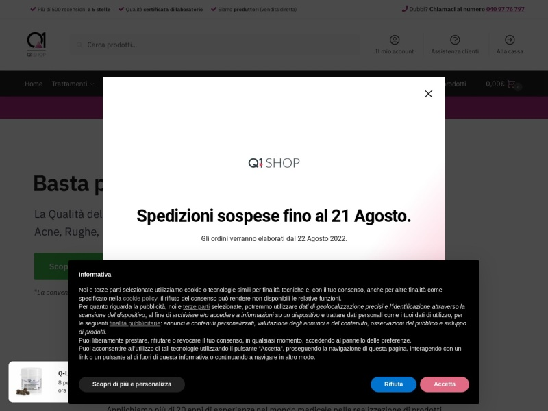 Q1SHOP.it - La Dermocosmesi Italiana si rinnova