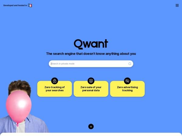 Screenshot of www.qwant.com