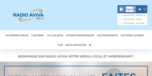 Screenshot of www.radio-aviva.com