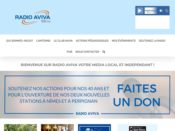 Screenshot of www.radio-aviva.com