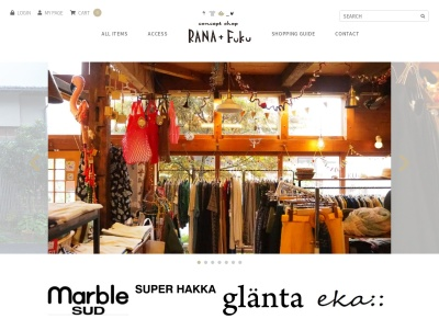 Screenshot of www.rana-fuku.com