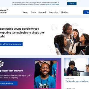 Screenshot of www.raspberrypi.org