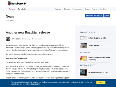https://www.raspberrypi.org/blog/another-new-raspbian-release/