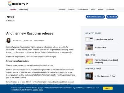 https://www.raspberrypi.org/blog/another-new-raspbian-release/
