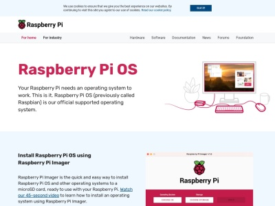 Screenshot of www.raspberrypi.org