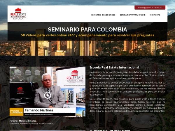 Captura de pantalla de www.realinternacional.com