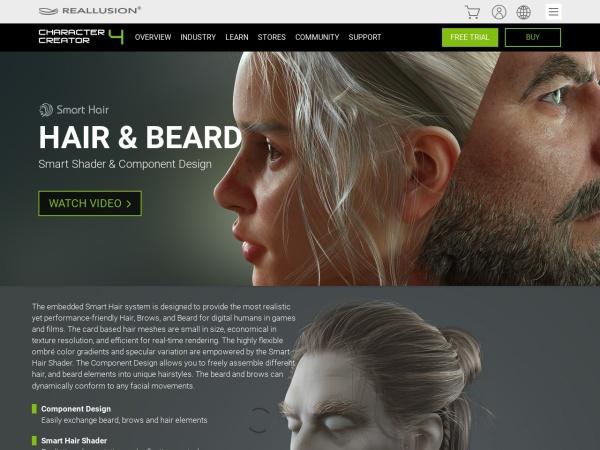 Screenshot of www.reallusion.com