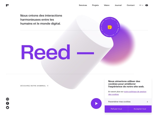 Screenshot of www.reed.be