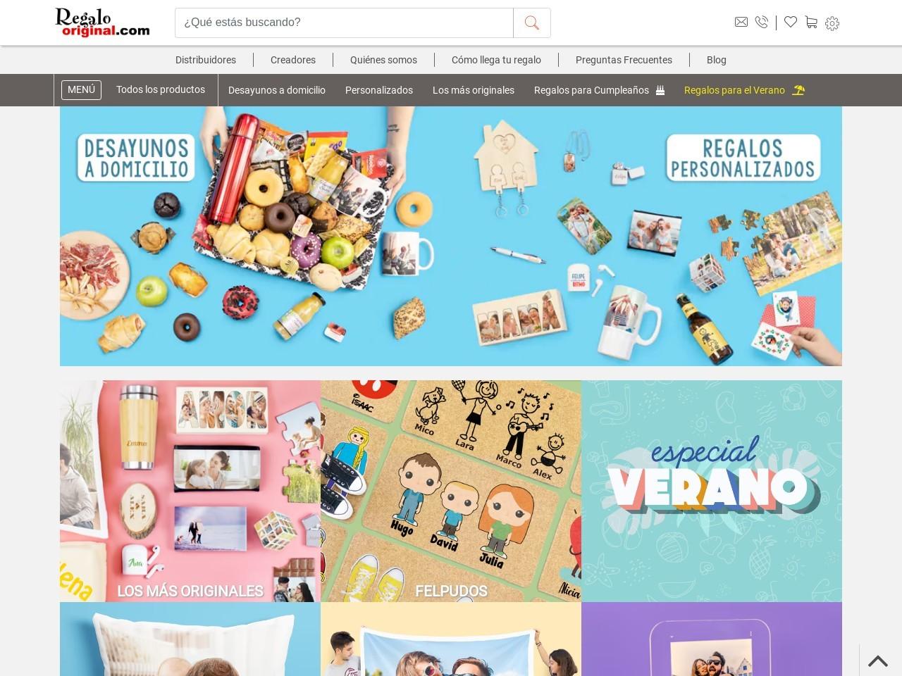 Captura de pantalla de www.regalooriginal.com
