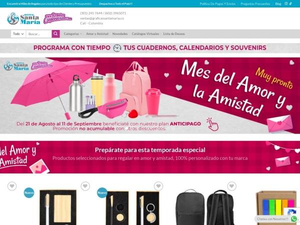 Captura de pantalla de www.regaloscorporativos.com
