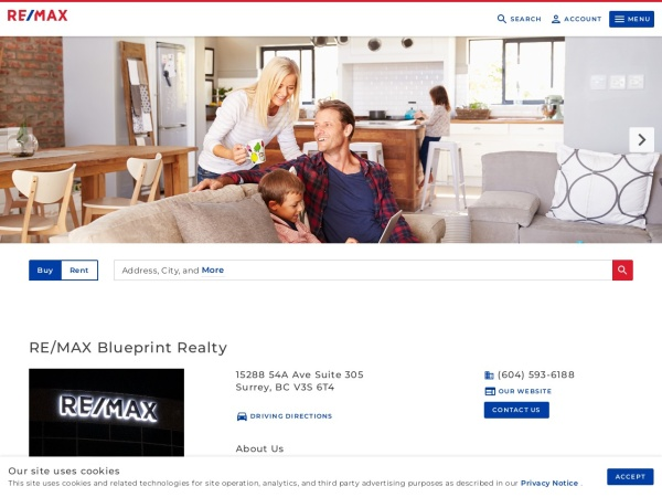 Screenshot of www.remaxblueprint.com