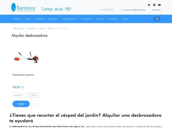 Captura de pantalla de www.rentaire.es