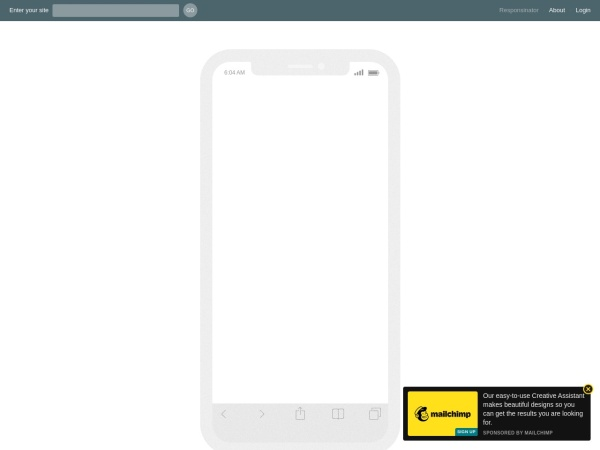 Screenshot von www.responsinator.com