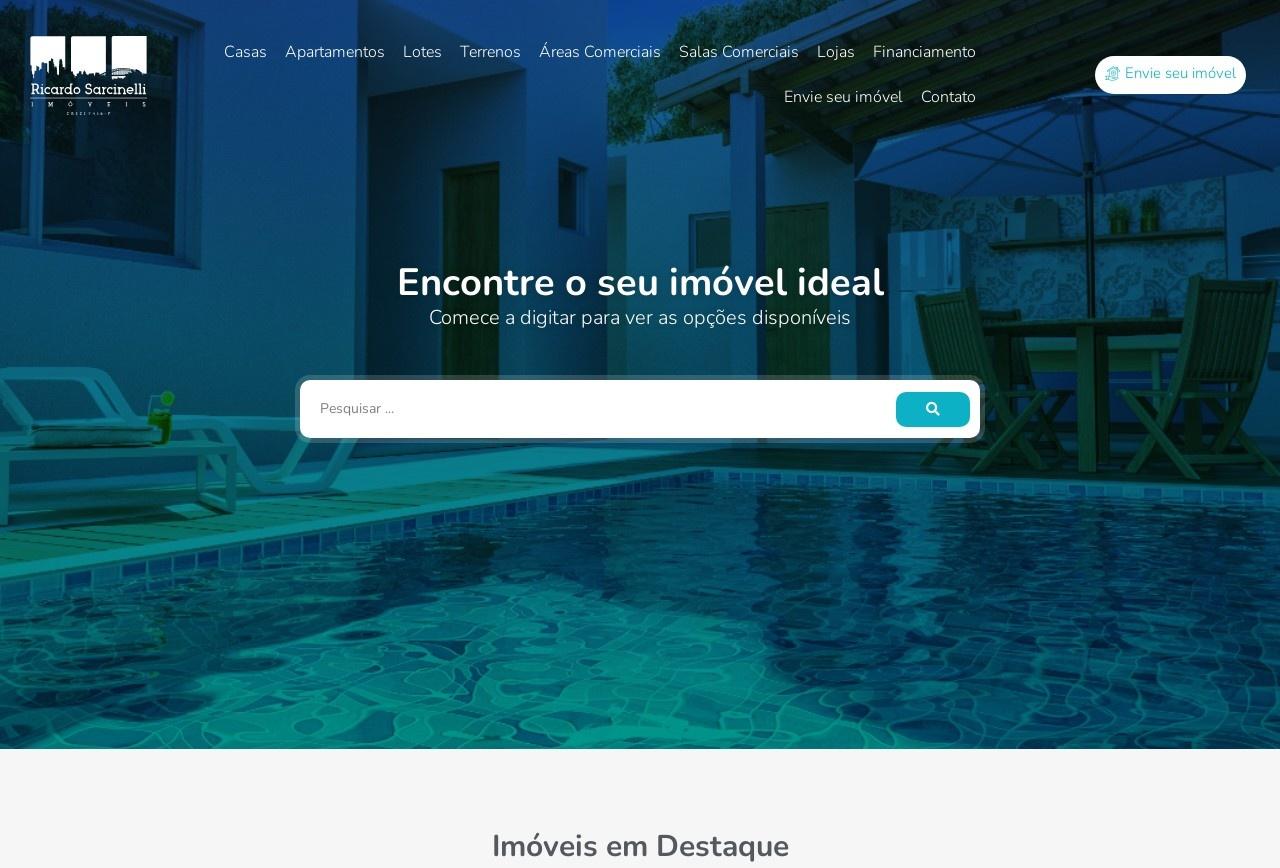 Screenshot of www.ricardosarcinelli.com.br