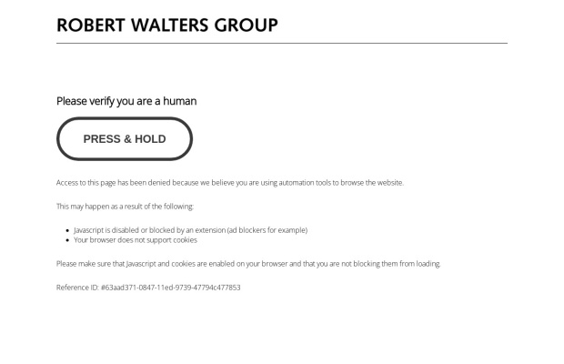 Screenshot of www.robertwalters.co.jp