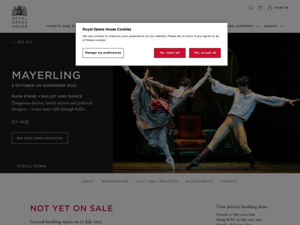 Screenshot of www.roh.org.uk