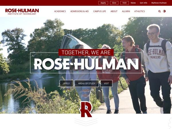 Screenshot of www.rose-hulman.edu