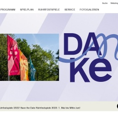 Screenshot of www.ruhrfestspiele.de