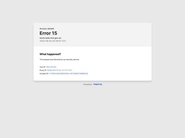 Screenshot of www.ryde.nsw.gov.au