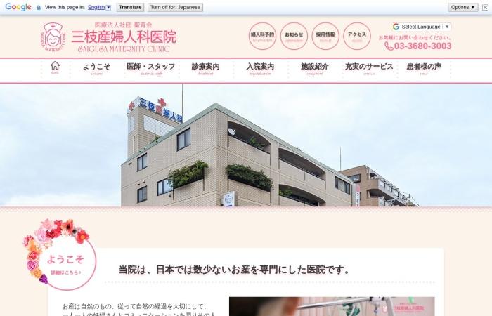 Screenshot of www.saigusa.or.jp