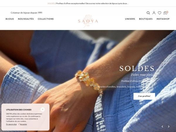 Screenshot of www.saoya.fr