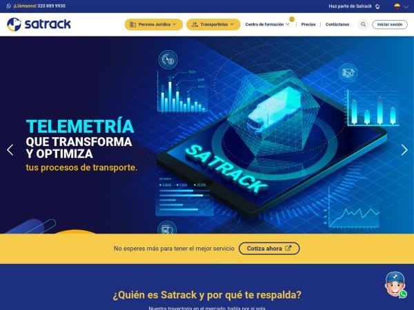 Captura de pantalla de www.satrack.com.co