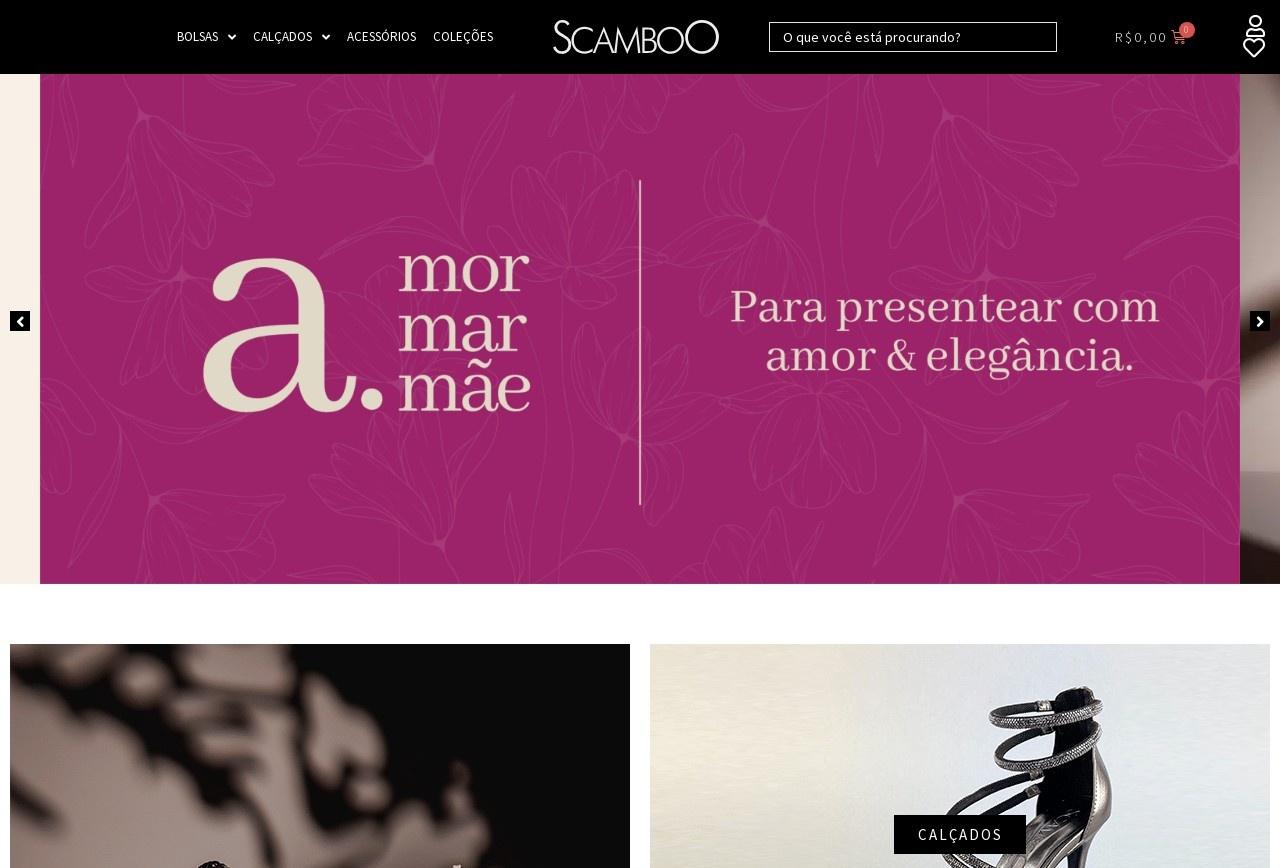 Screenshot of www.scamboo.com.br