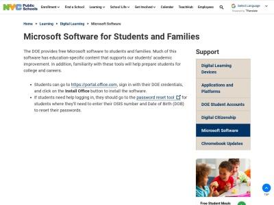 Screenshot of www.schools.nyc.gov