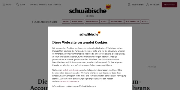 Screenshot of www.schwaebische.de