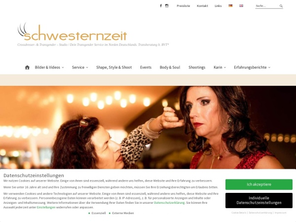 Screenshot of www.schwesternzeit.de
