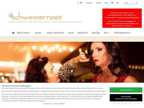 Screenshot von www.schwesternzeit.de