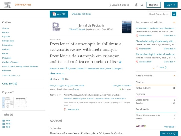 Asthenopia in Children