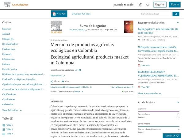 Captura de pantalla de www.sciencedirect.com