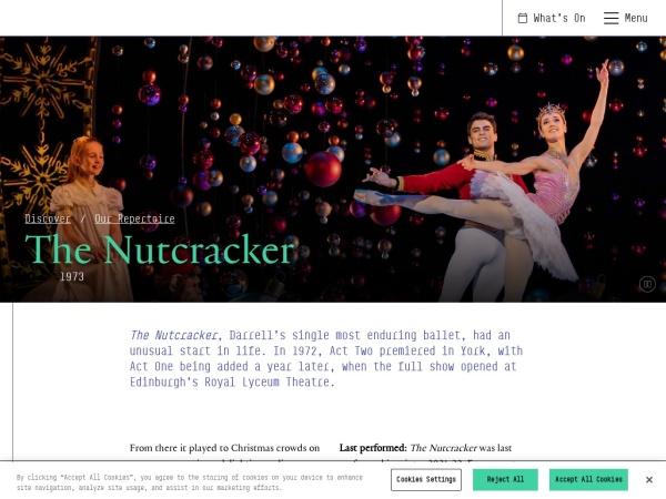 Screenshot of www.scottishballet.co.uk