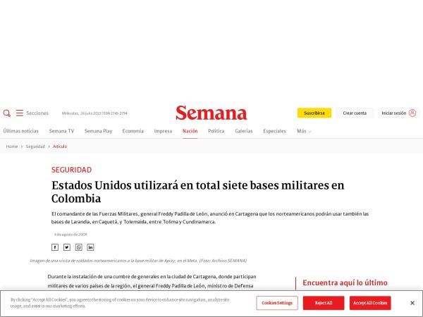 Captura de pantalla de www.semana.com