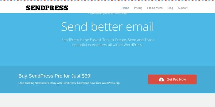 Screenshot of www.sendpress.com