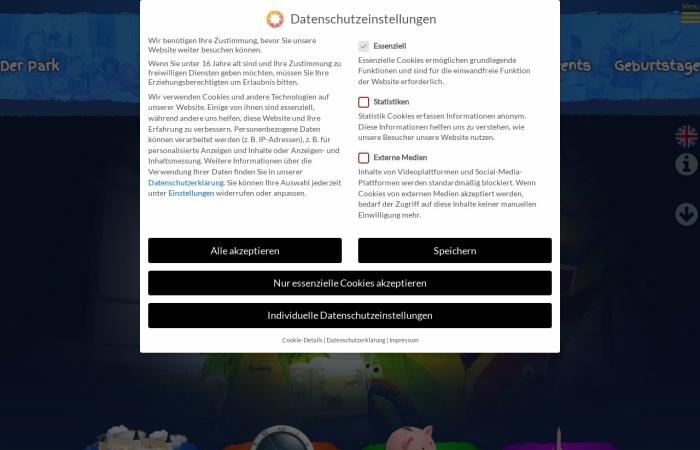 Screenshot von www.sensapolis.de