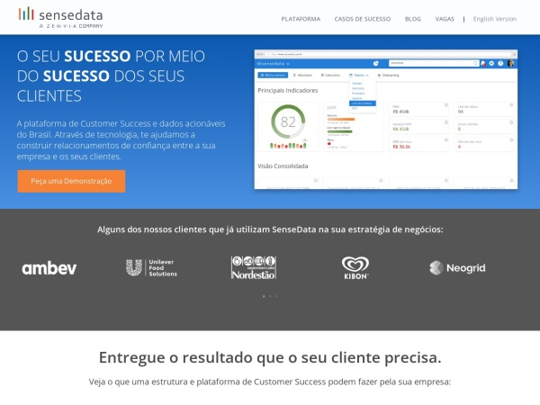 Screenshot of www.sensedata.com.br