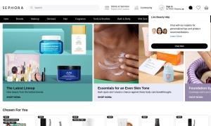 Sephoraウェブサイトサムネイル