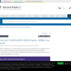 Screenshot of www.service-public.fr