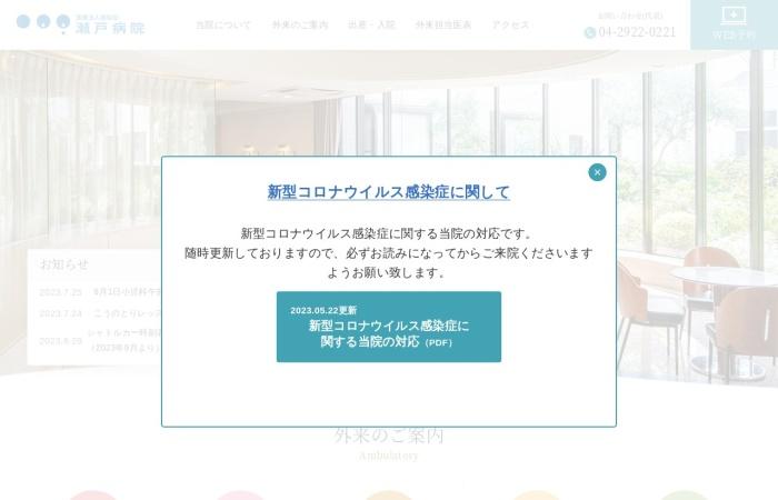 Screenshot of www.seto-hospital.or.jp