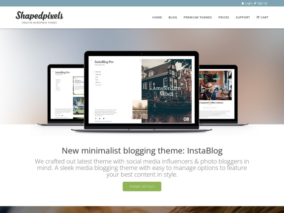 Homepage di Shaped Pixels