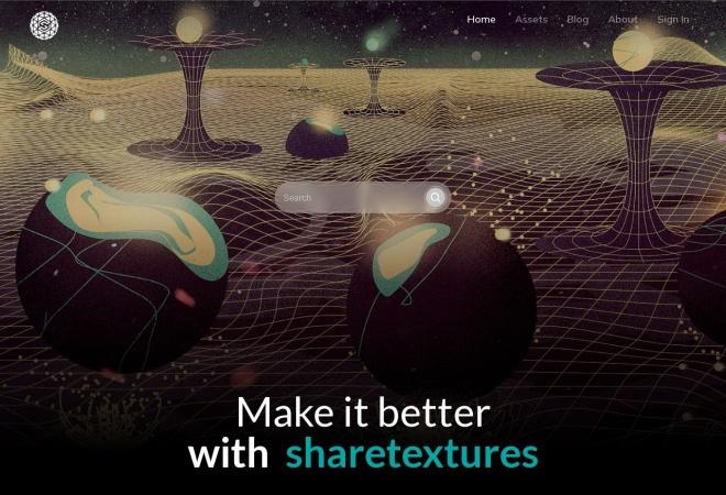 Screenshot of www.sharetextures.com