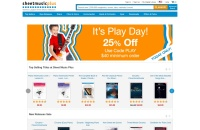 Screenshot of www.sheetmusicplus.com