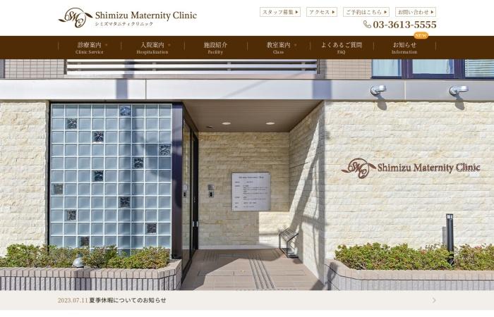 Screenshot of www.shimizuclinic.net