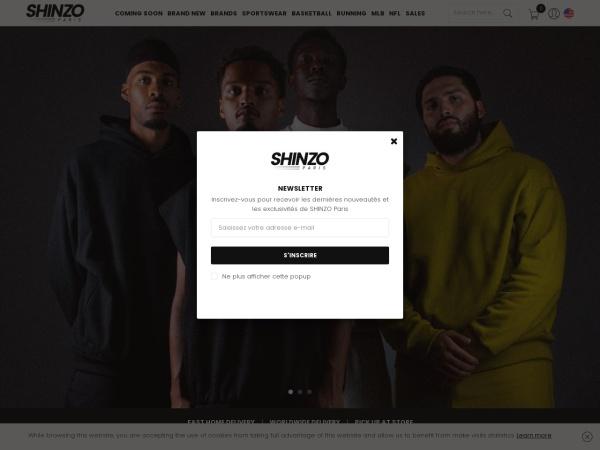Screenshot of www.shinzo.paris