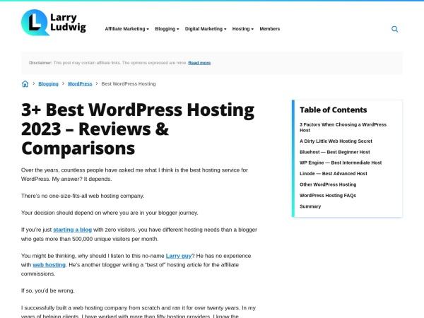 Best WordPress Hosting 2016 Guide w/ Quiz