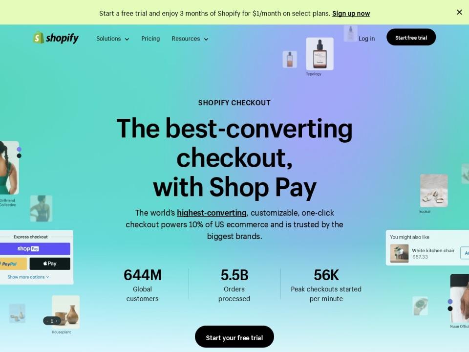 Screenshot of www.shopify.com.au
